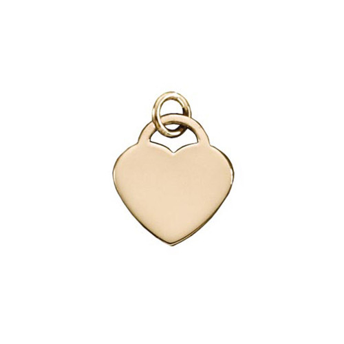 Trendy 14kt Gold Padlock Heart Pendant