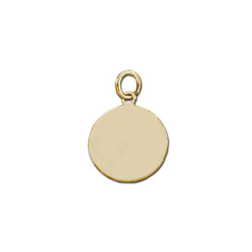 14K Round Plaque Charm or Pendant