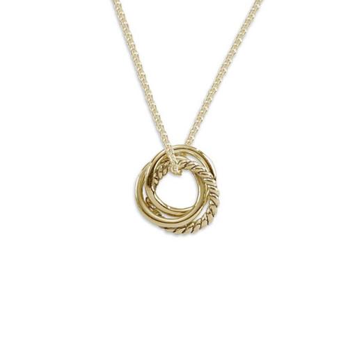 14kt Gold Triple Knot Pendant
