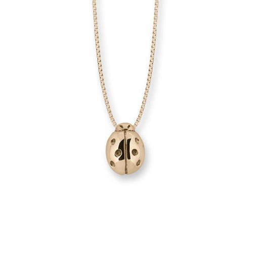 14kt Gold Ladybug Pendant