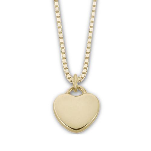 """14kt Gold """"Plain"""" Candy Heart Pendant"""
