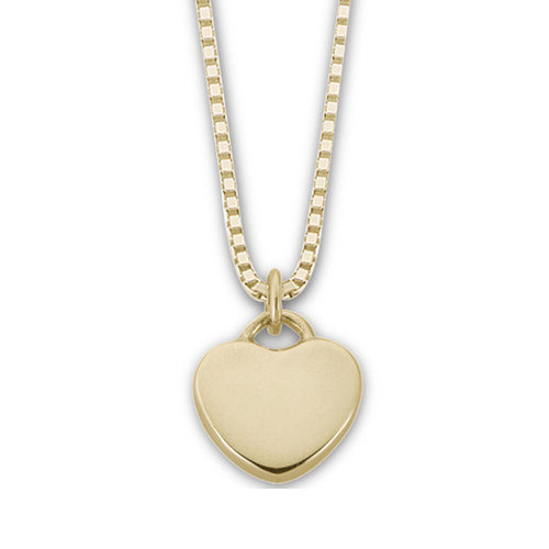 "14kt Gold ""Plain"" Candy Heart Pendant"