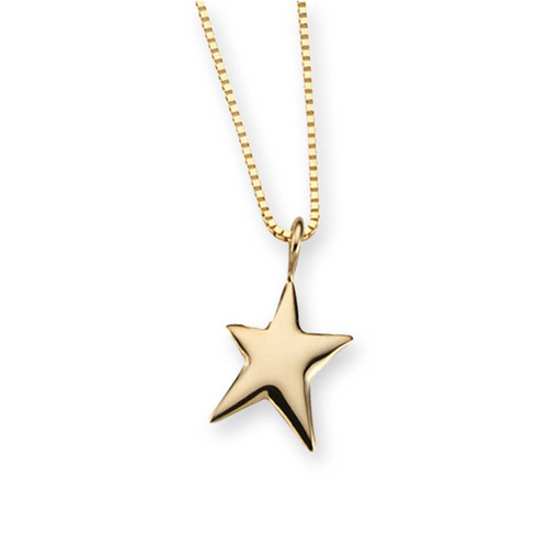 Simple & elegant 14kt Gold Shining Star Pendant