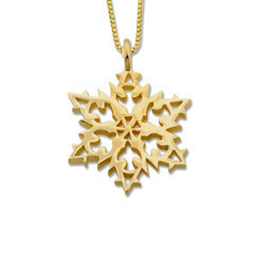 Designer 14kt Gold Snowflake 2007 Pendant