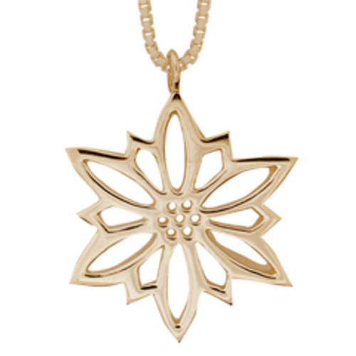 Traditional 14kt Gold 2009 Snowflake Pendant