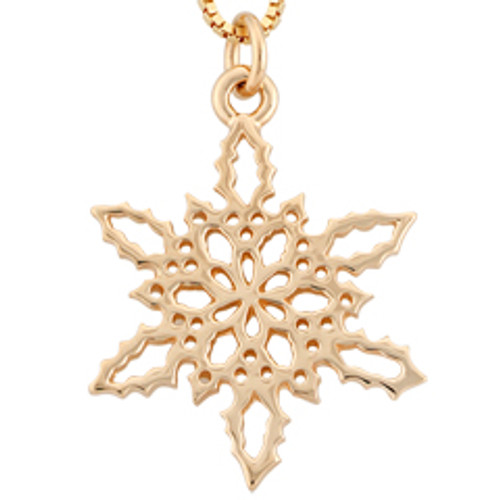 14kt Gold 2010 Snowflake Holly Pendant