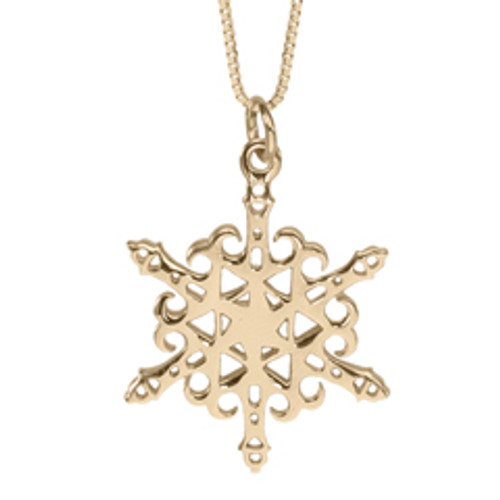 14kt Gold 2012 Snowflake Lighthouse Pendant