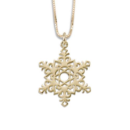 14kt 2017 Snowflake Pendant