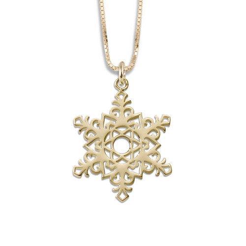 14k 2017 Snowflake Pendant