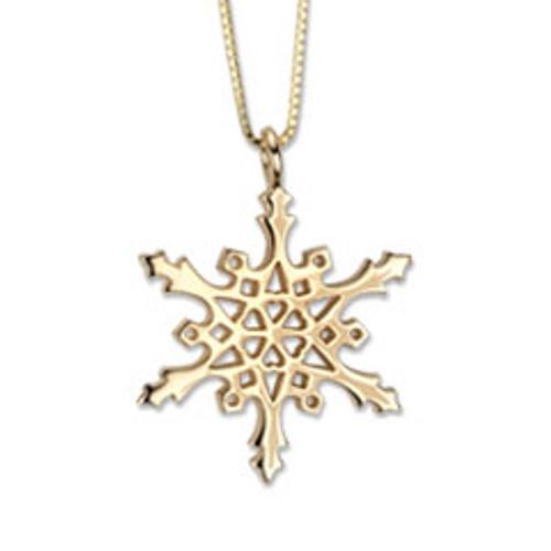 Designer 14kt Gold 2004 Snowflake Pendant