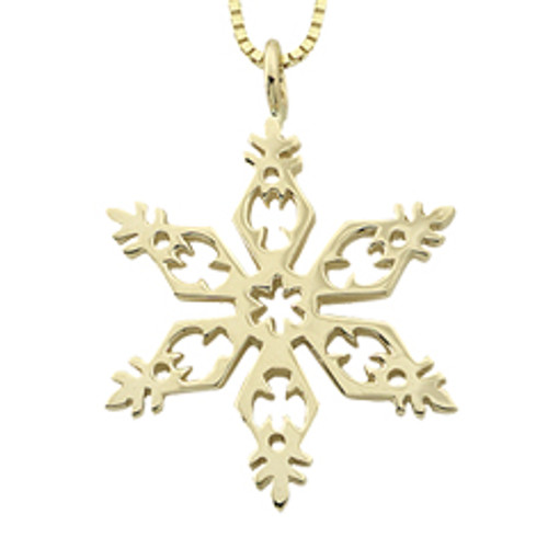 14kt Gold 2006 Snowflake Pendant