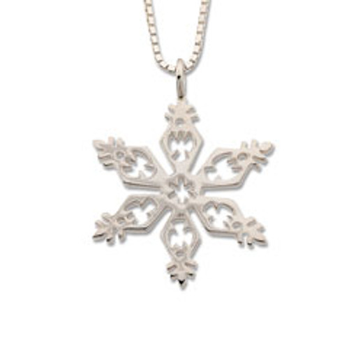 Sterling Silver 2006 Snowflake Angles Pendant