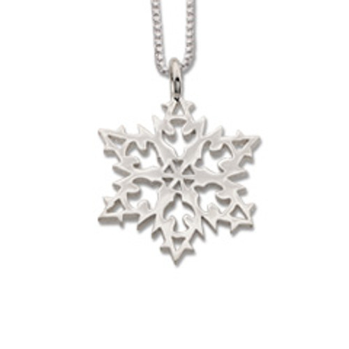 Sterling Silver 2007 Snowflake Peace Pendant