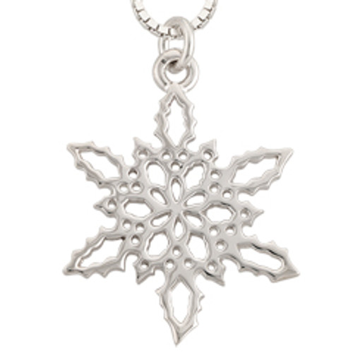 Sterling Silver 2010 Holly Snowflake Pendant