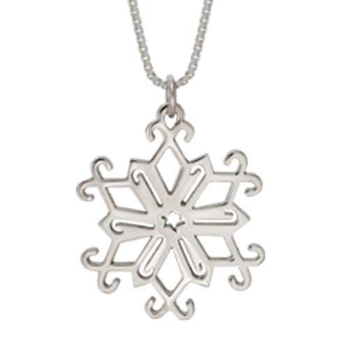 Stylish Sterling Silver Snowflake Pendant 2013