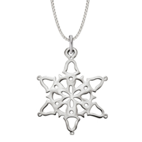 Sterling Silver 2014 Snowflake Pendant