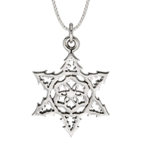 Latest 2015 Sterling Silver Snowflake Pendant