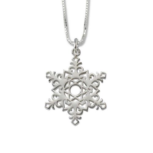 Sterling Silver 2017 Snowflake Pendant