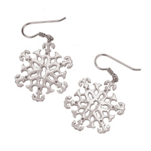 Sterling Silver 2003 Snowflake Earrings symbolize hospitality