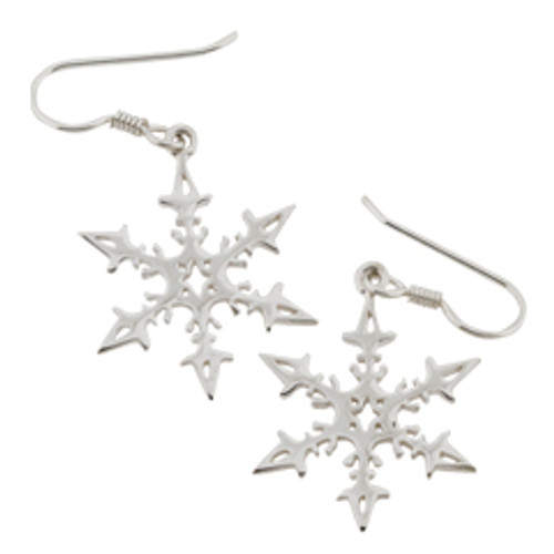 Sterling Silver 2008 Snowflake Earrings reflects maritime heritage