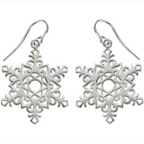 Sterling Silver 2017 Snowflake Earrings Signifies Dedication