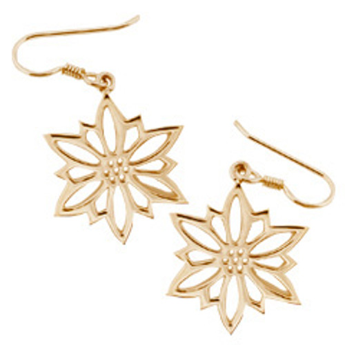 14kt 2009 Snowflake Earrings with Year's Annual Design