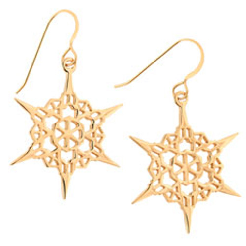 14kt 2011 Steeple Snowflake Earrings