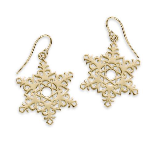 14kt 2017 Snowflake Earrings