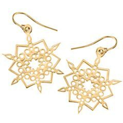 14kt 2016 Snowflake Earrings Including the ear wire.