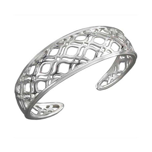 Sterling Silver Persian Lace Cuff