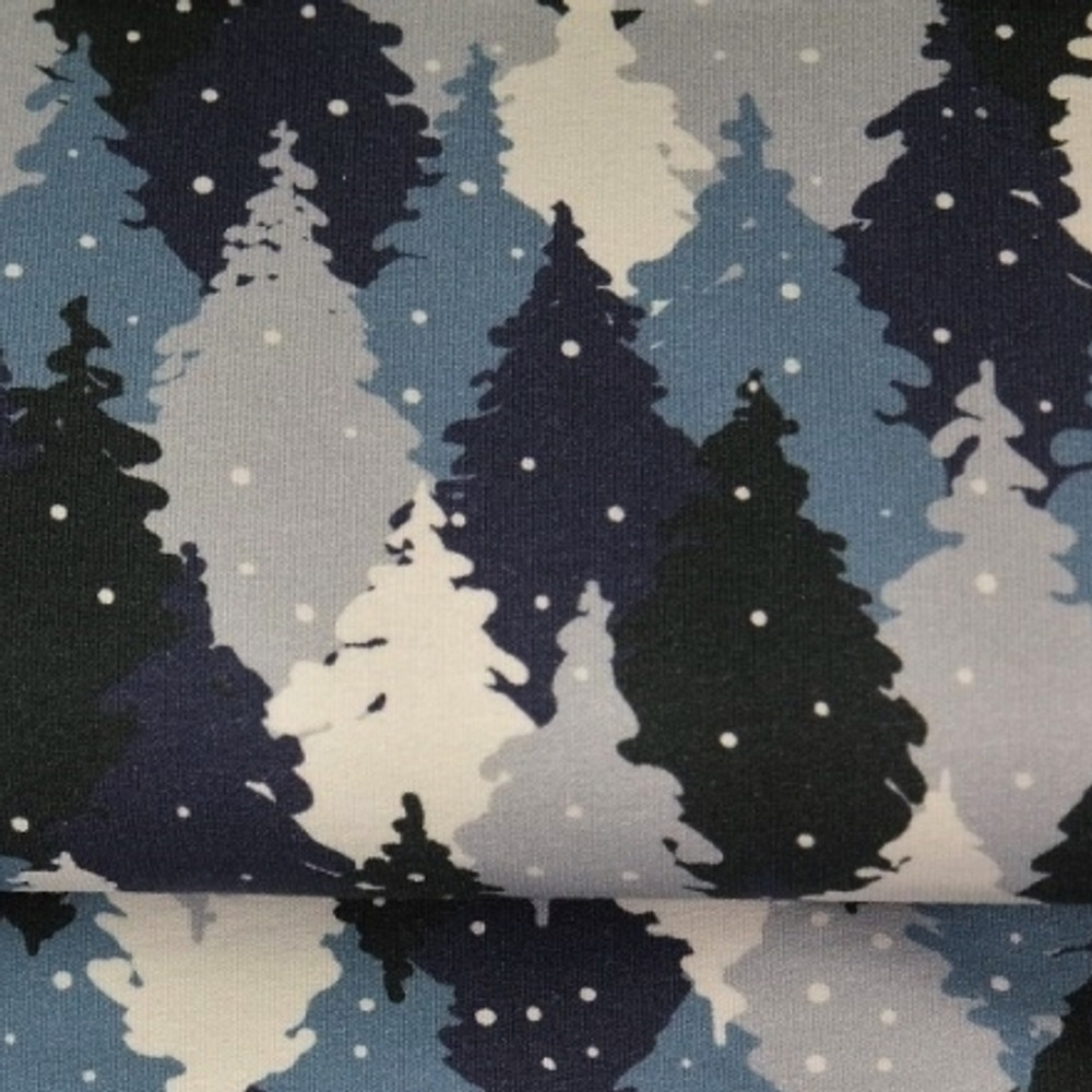 Blue Pine Trees French Terry