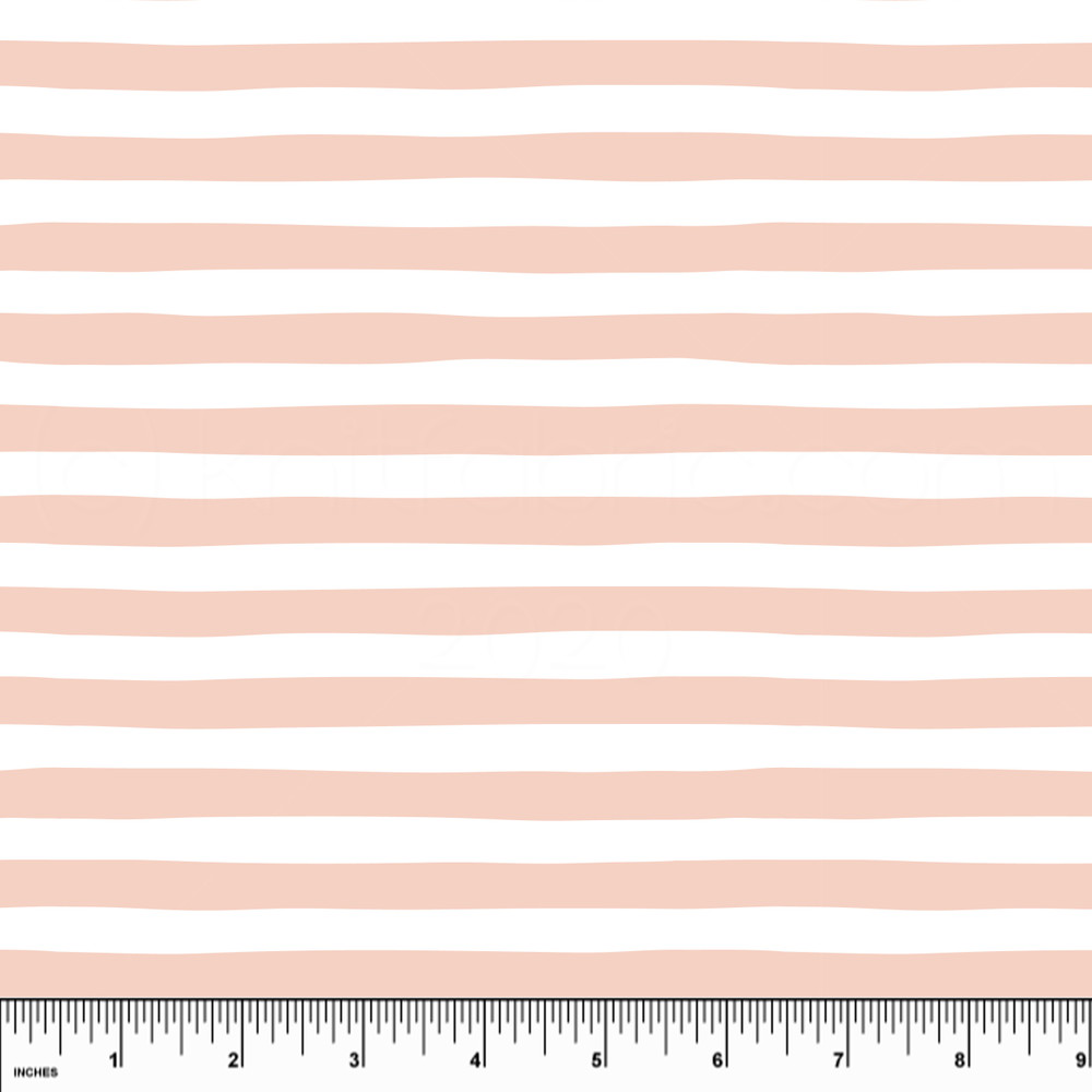 Custom Dusty Pink Stripe Cotton Lycra Knit