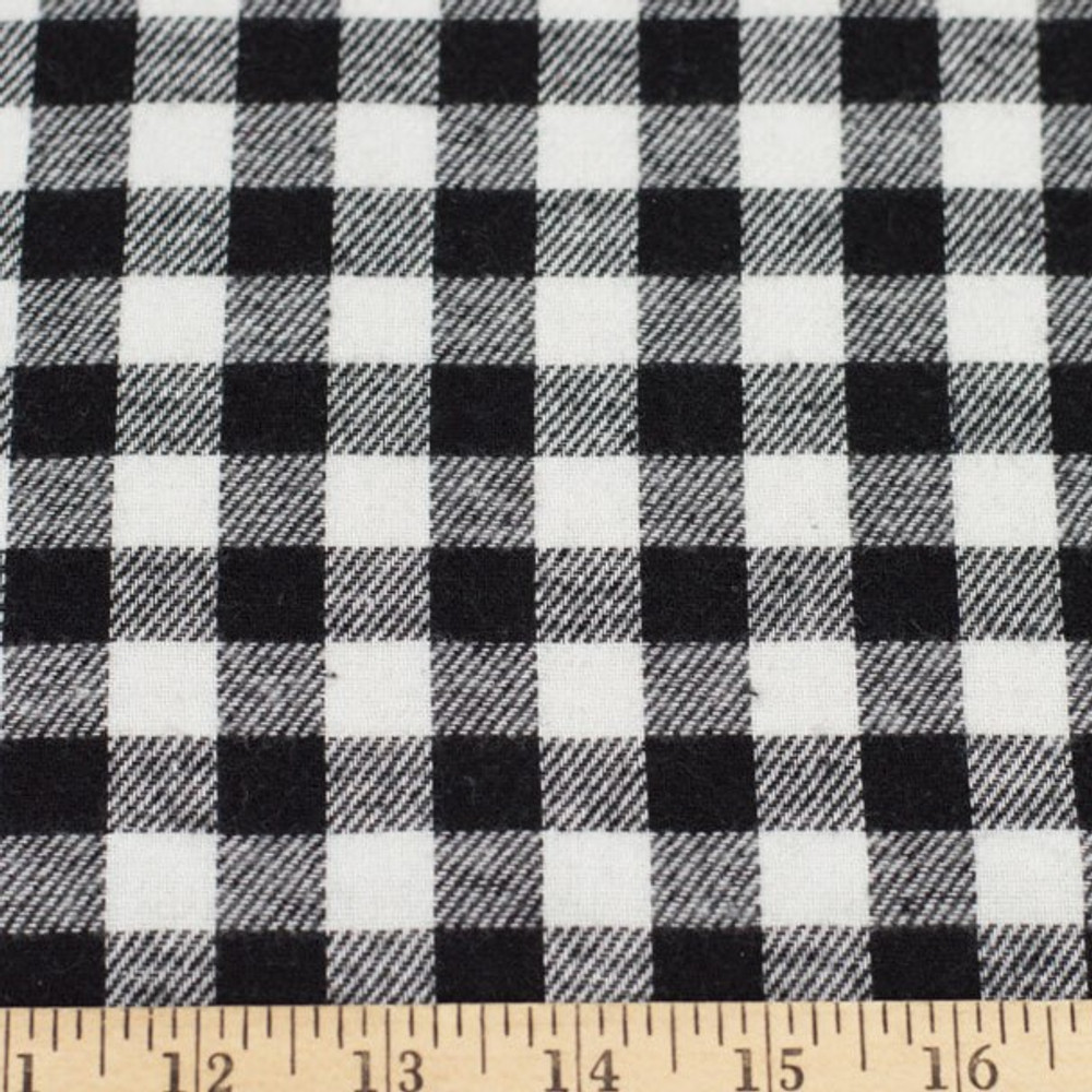 Black and White Buffalo Plaid Flannel