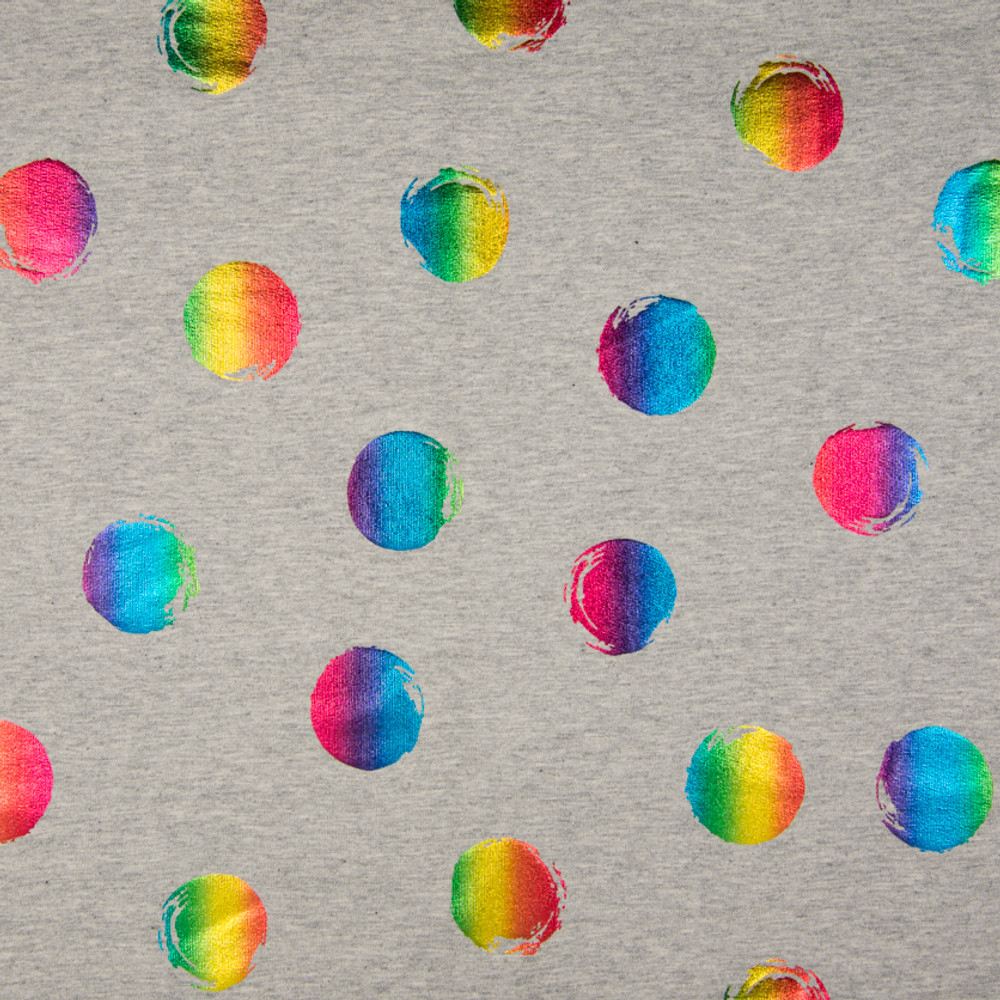 Rainbow Foil Dots French Terry