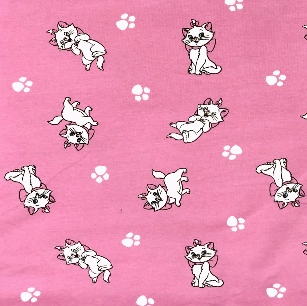 Aristocats on Pink Cotton Lycra