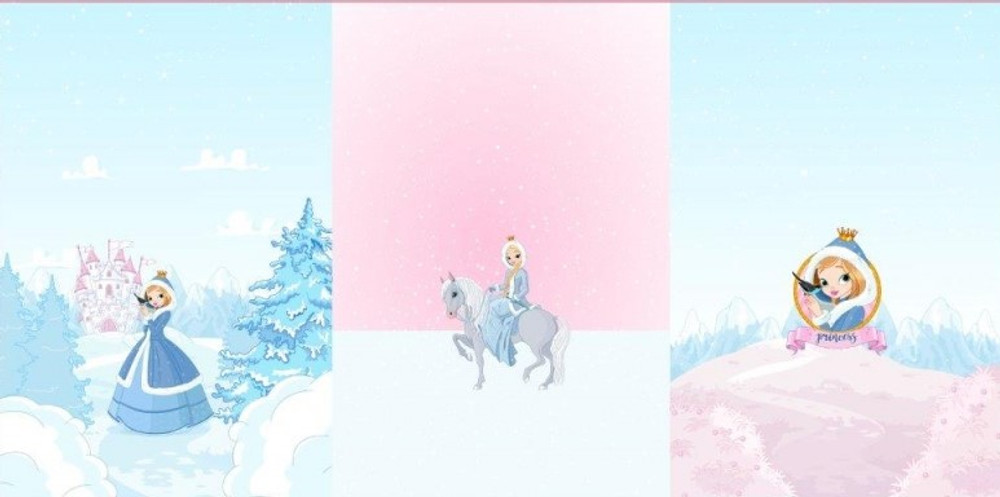 """Winter Princess French Terry 29"""" Panel Set"""