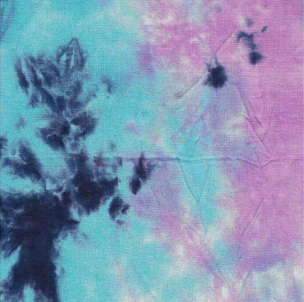 Blue and Purple Tie Dye Rayon Jersey Knit