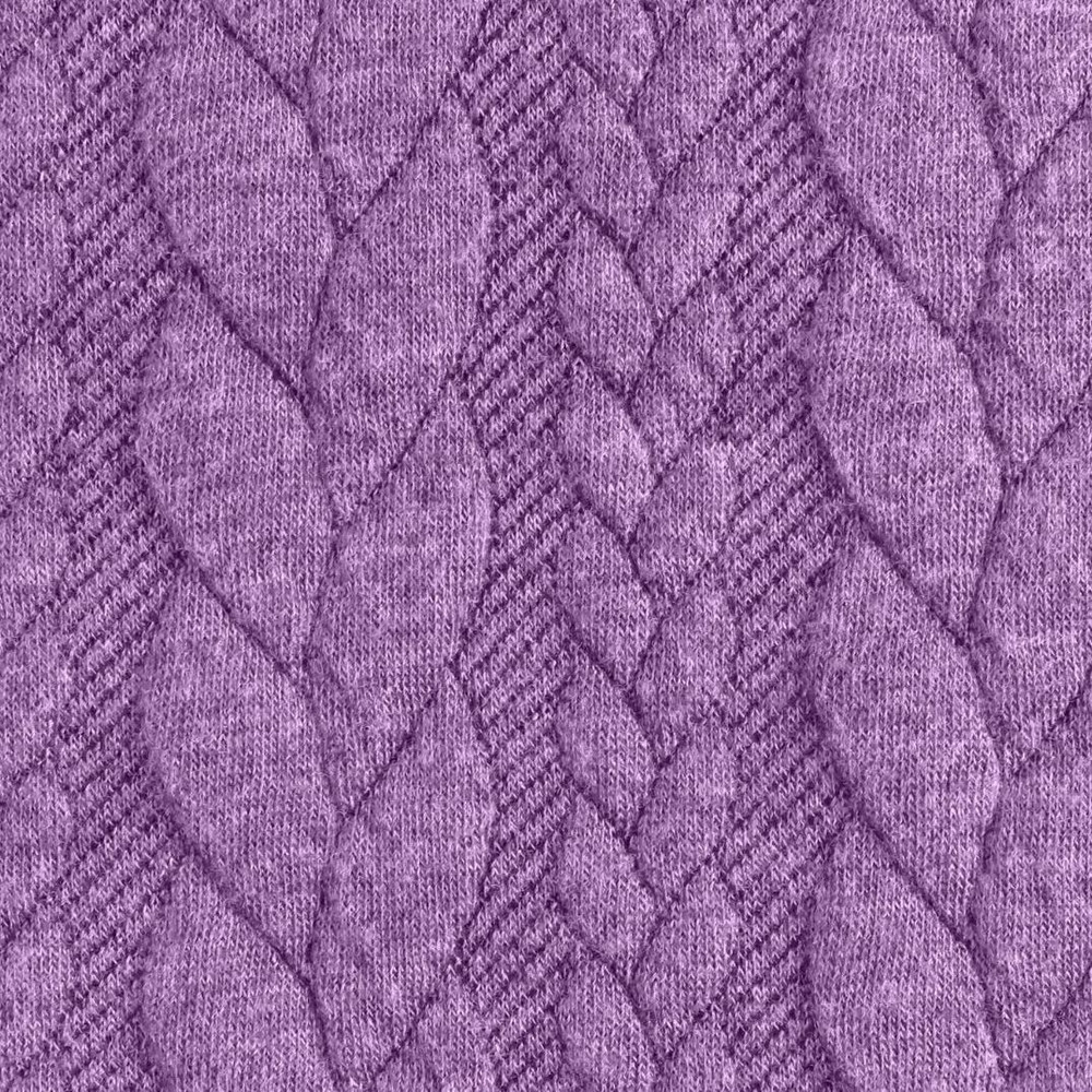 Lilac Cable Knit