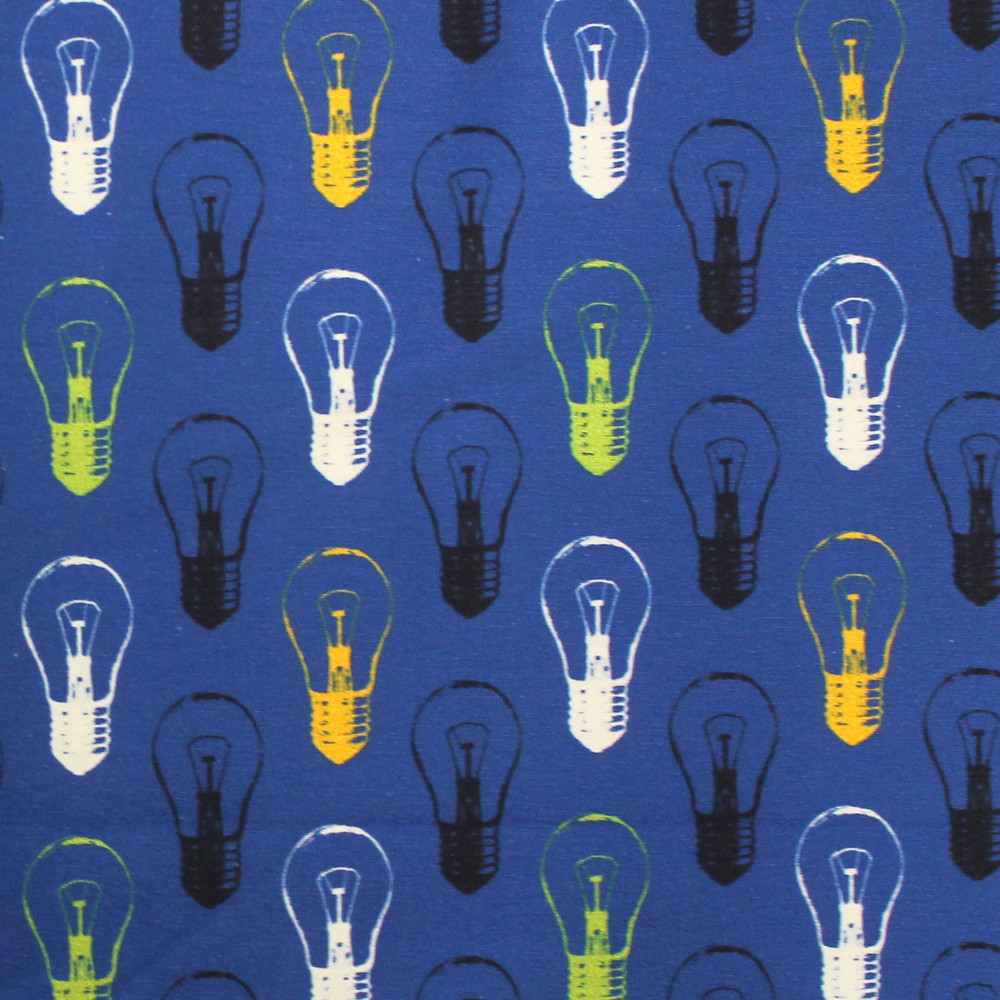 Light Bulbs Cotton Lycra Knit