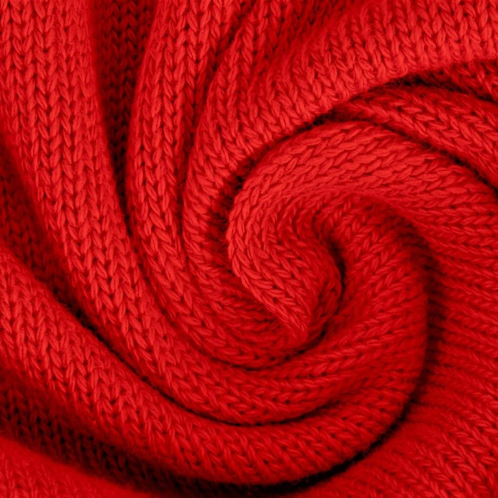 Red Cotton Mini Knitted Fabric