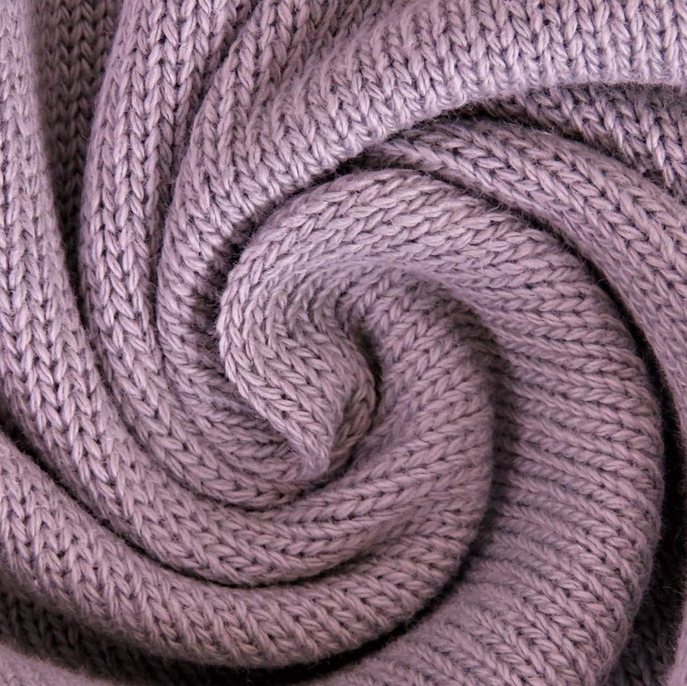 Old Rose Cotton Mini Knitted Fabric