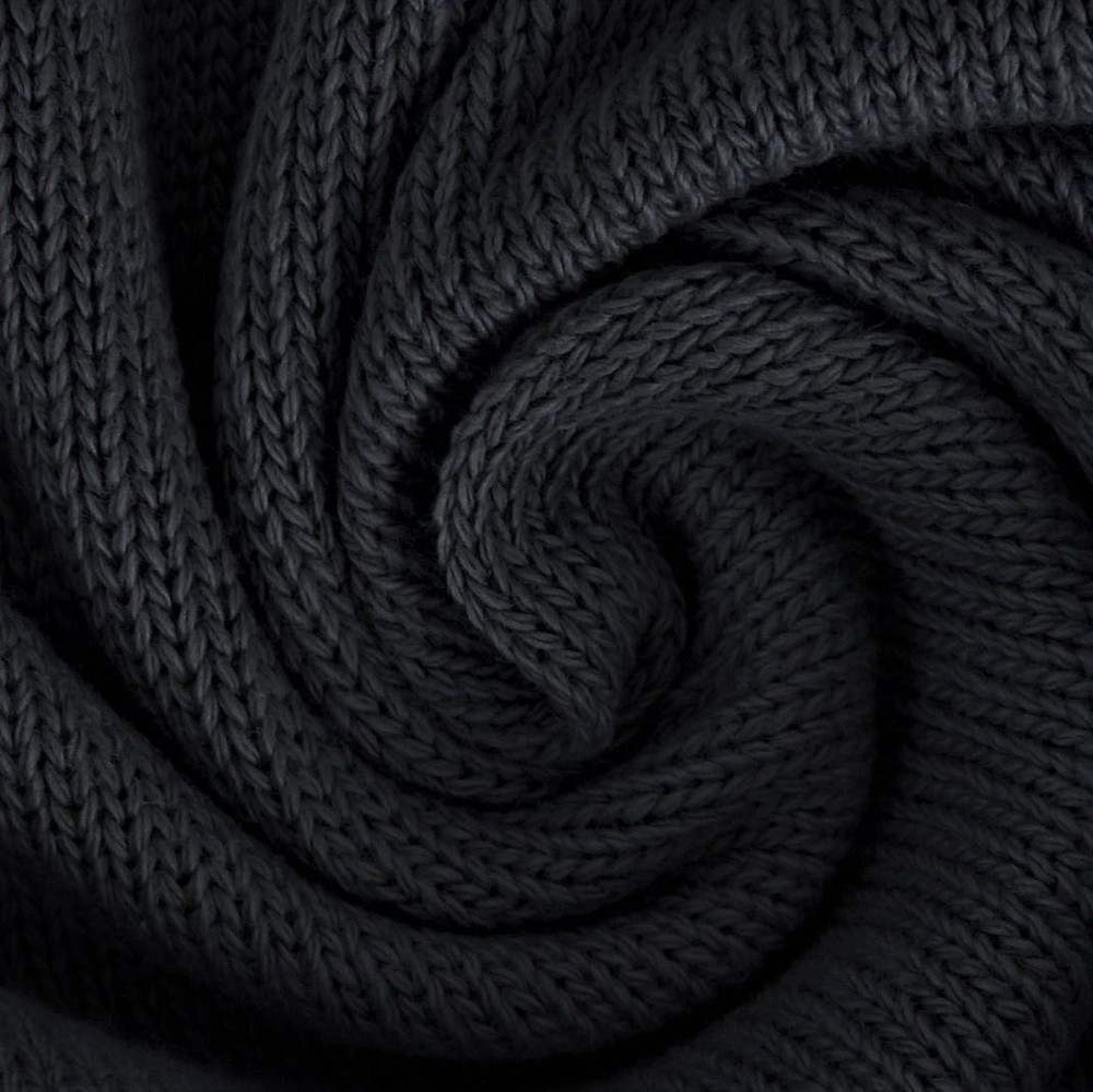 Black Cotton Knitted Fabric