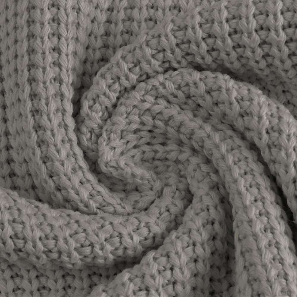 Gray Cotton Knitted