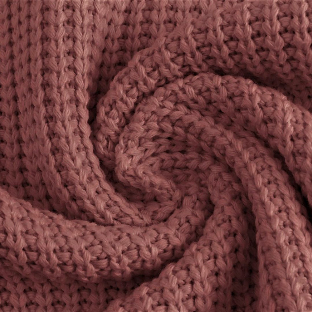 Dark Old Rose Cotton Knitted