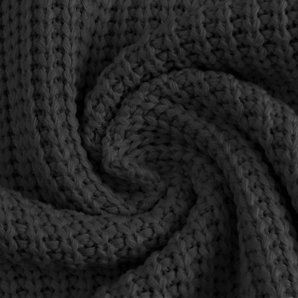Charcoal Cotton Knitted