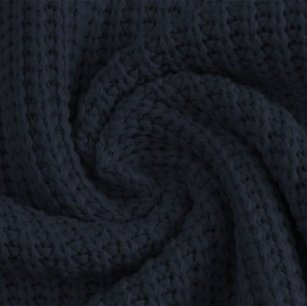 Navy Cotton Knitted