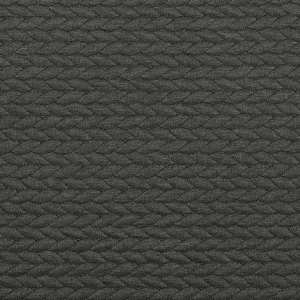 Black Quilted Cable Knit