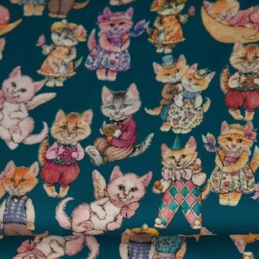 Kitties in Clothes Cotton Lycra