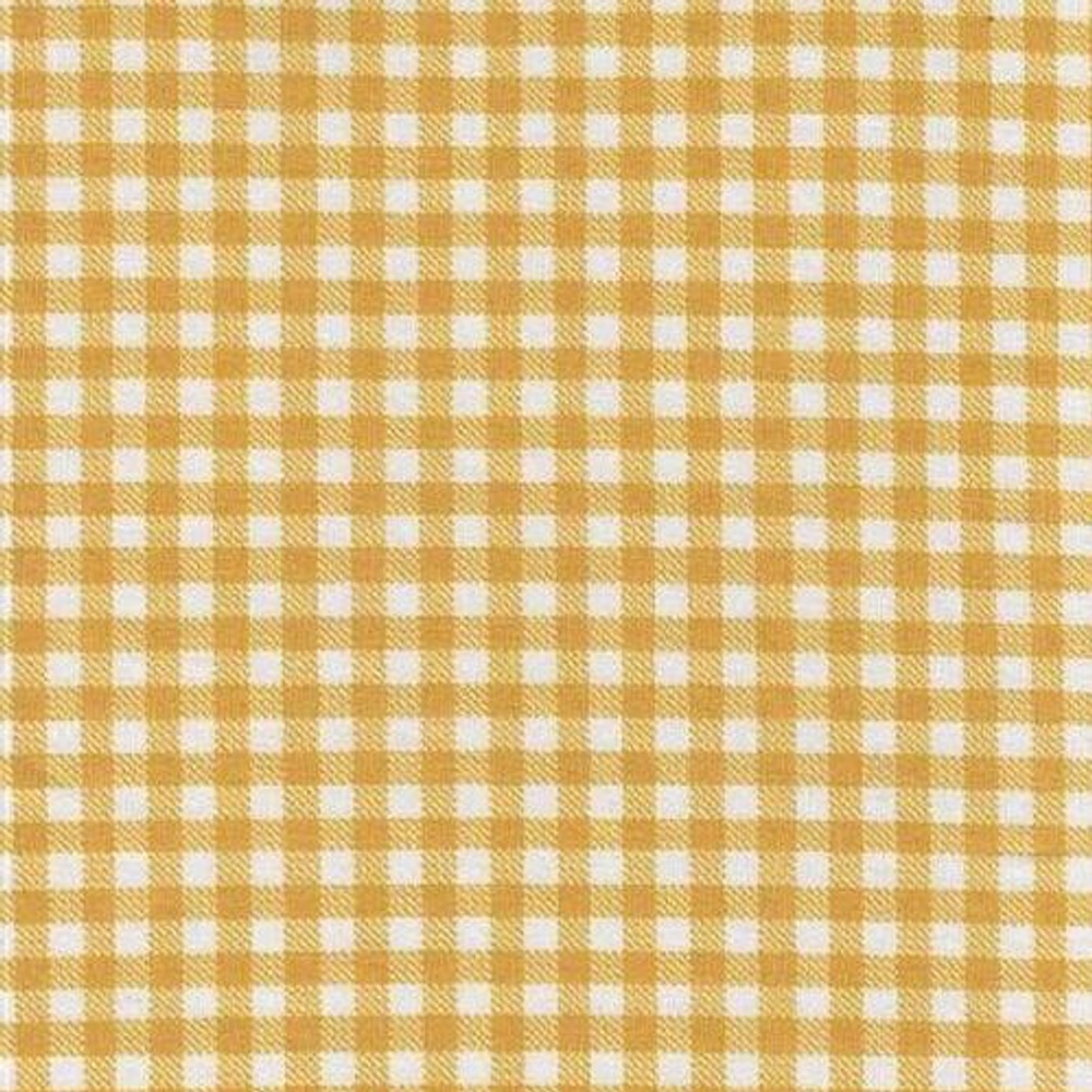 Mustard Gingham French Terry Knit