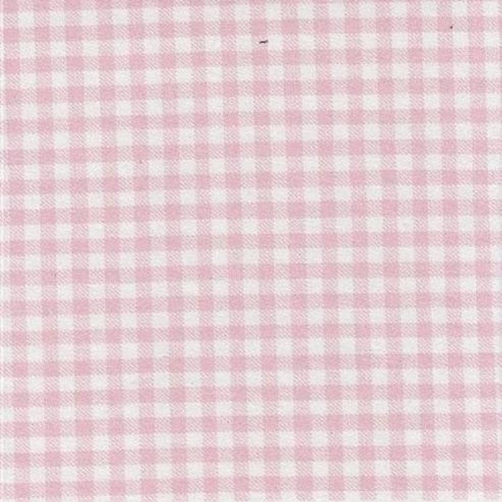Light Pink Gingham French Terry Knit